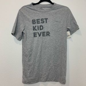 Boys best kid ever gray t-shirt